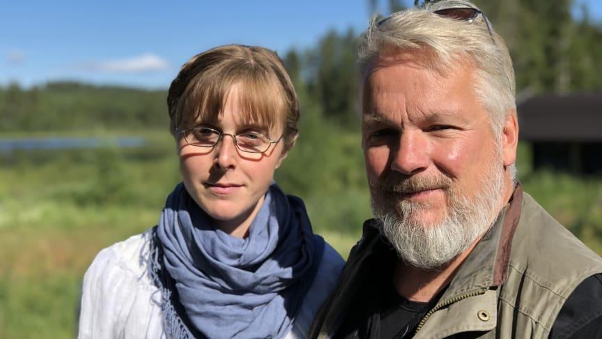 Stig Dahlström och Susanne Strobl från föreningen Allmogen