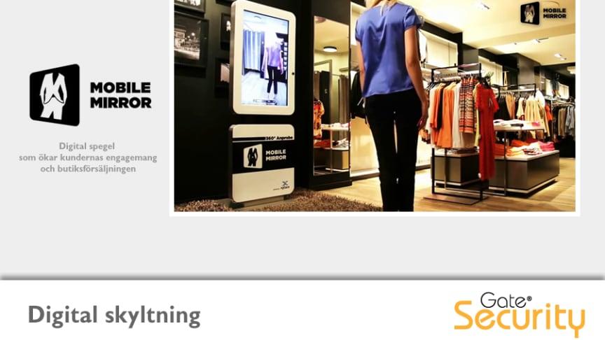 Digital spegel för klädbutiker ger ökad försäljning