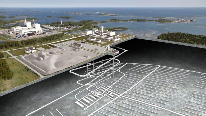 Fotomontage - genomskärning Kärnbränsleförvaret. Foto: Lasse Modin