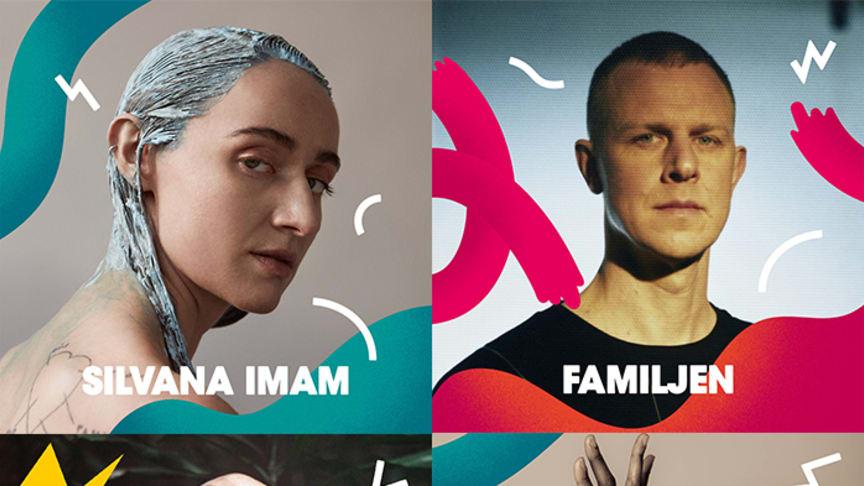 Silvana Imam, Familjen, Mwuana och Rokia Traoré är fyra av de totalt tretton artister som Malmöfestivalen släpper i dag.