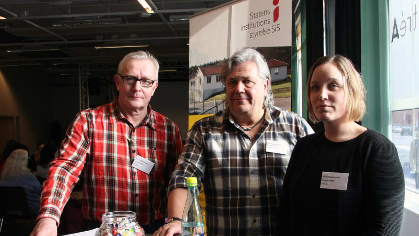 Stefan Cardesjö, Håkan Kårebrand och Maria Thelén från SiS ungdomshem Ljungbacken ser gärna fler kvinnliga medarbetare framöver.