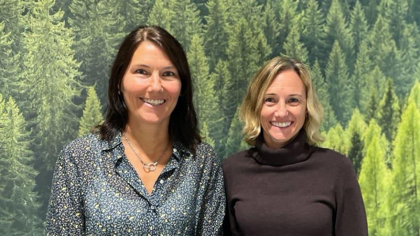 Från vänster: Anna Gustafsson och Maria Wessberg vd, Structor Miljöbyrån Stockholm. Foto: Structor