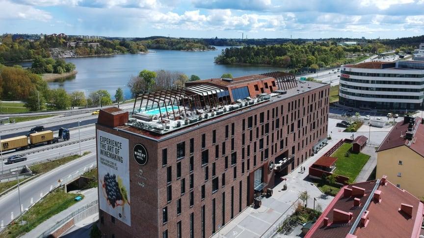 The Winery Hotel har flera år i rad prisats internationellt för sin fantastiska rooftop