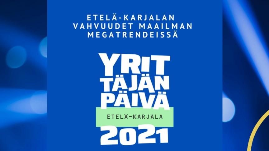 Yrittäjän päivänä 3.9.2021 Etelä-Karjalassa järjestetään livestream -tapahtuma