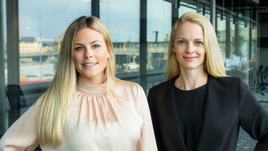 Natalie Tideström Heidmark, vd på United Screens, och Nicolin Lillhage, COO och vice vd på Untied Screens