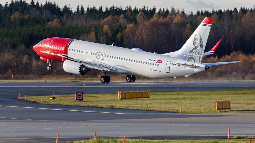 Norwegian Boeing 737 MAX   Foto: David Peacock