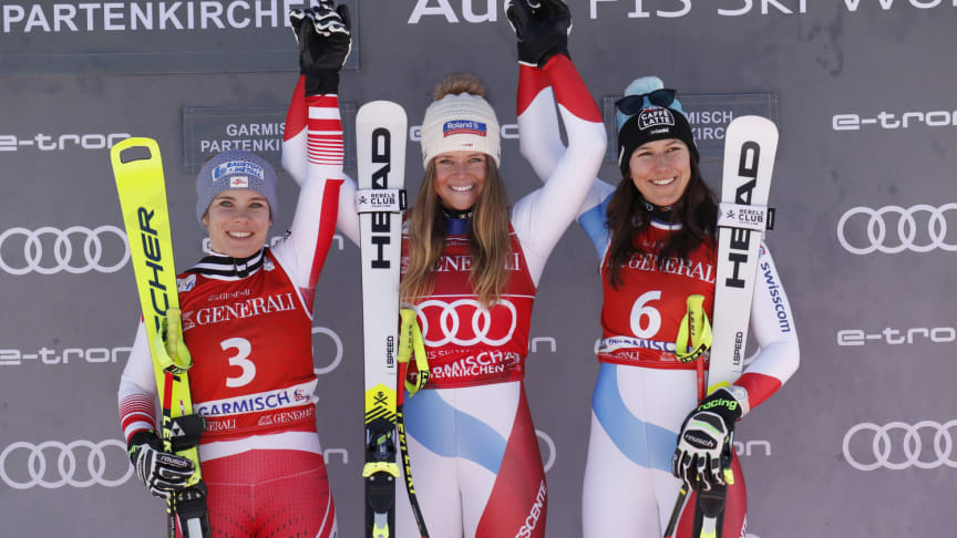 First Super-G victory for Corinne Suter