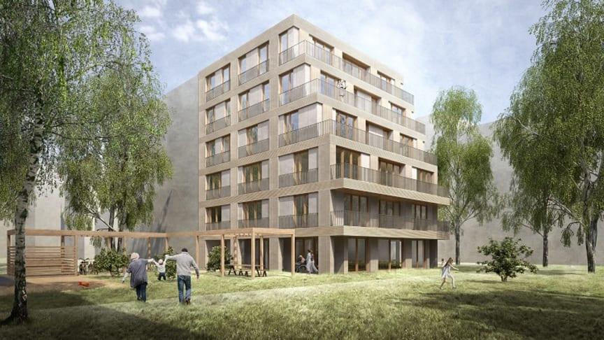 Baubeginn der Immobilie für Menschen mit und ohne Behinderung in Wilmersdorf Anfang 2021 / Fotocredits: Georg Hana