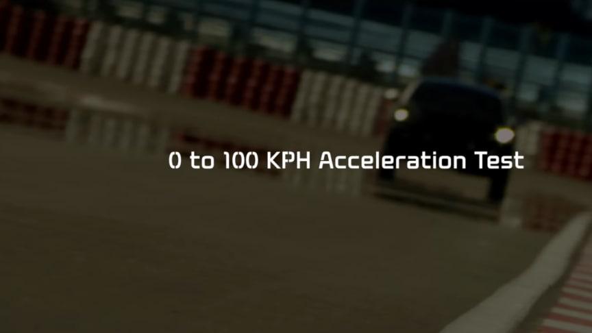 Accelerationstest på KIAs kommende højtydende model
