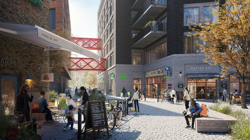Liljewall utvecklar nytt kvarter i Gamlestadens Fabriker tillsammans med Platzer