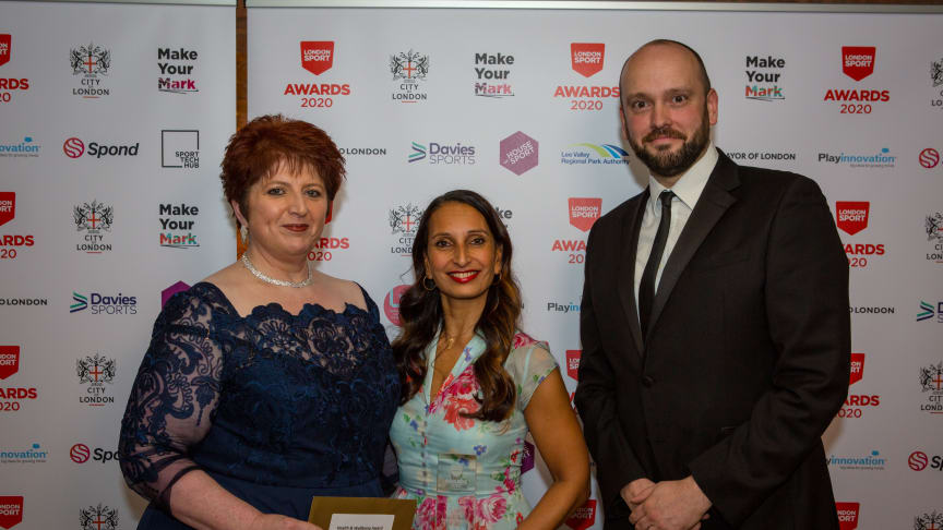 Rashmi Becker (centre) saw her Step Change Studios win the Physical Activity for Health Award in 2020