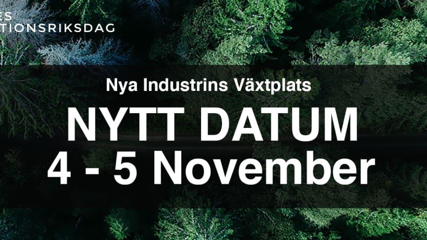 Sveriges Innovationsriksdag - #SIR20 flyttas fram på grund av coronaviruset, Covid-19. Nytt datum: 4 – 5 november 2020.