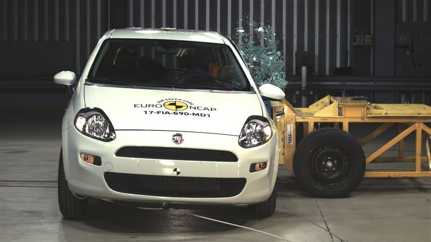 The FIAT Punto in Euro NCAP's side crash test
