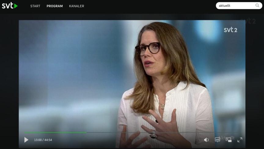 One Million Babies grundare Mia Ahlberg i SVT Aktuellt gällande skärpta råd till gravida under pandemin
