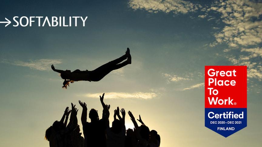 Softability on tänäkin vuonna Great Place to Work®-sertifioitu työpaikka!