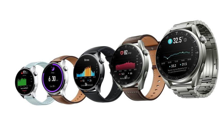 På den svenska marknaden lanseras Huawei Watch 3 i svart och brunt och Watch 3 Pro i brunt läder.