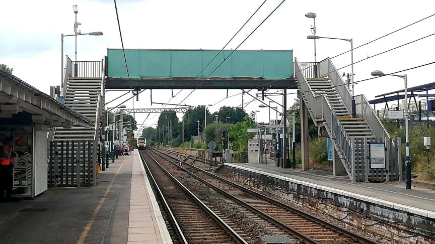 Royston station footbridge is closed pending structural repairs