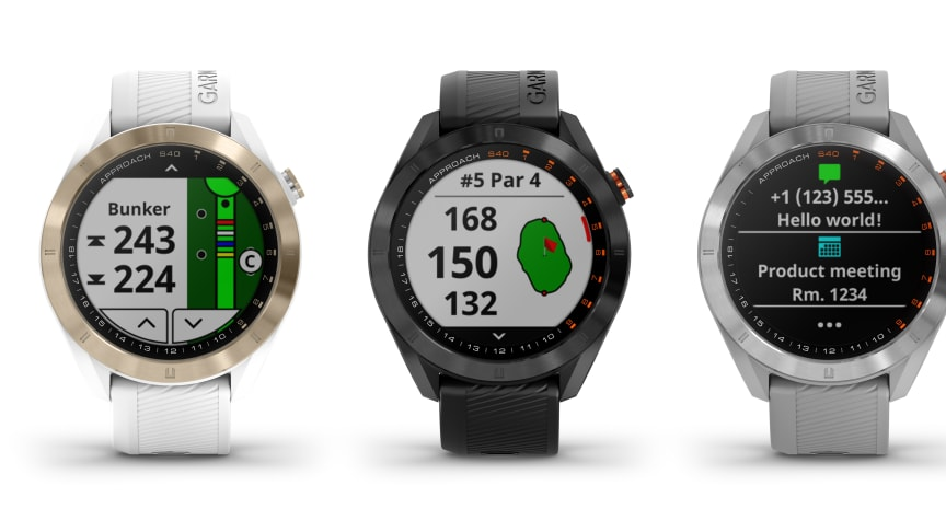 Garmin® Approach S40: Smartwatch för golf med GPS som passar både ditt spel och din stil
