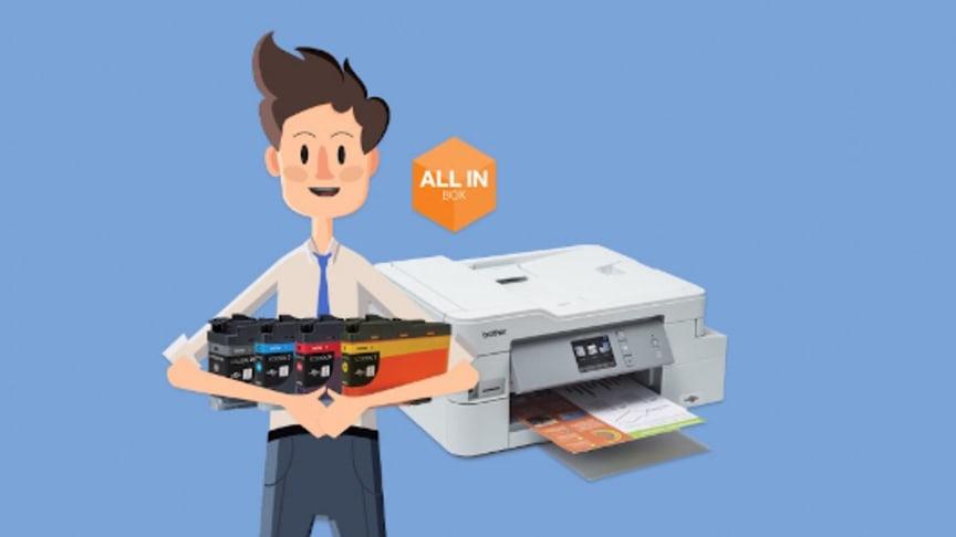 Vi har fire All in Box-modeller, to laserprintere og to inkjetprintere, så der er noget for ethvert behov.