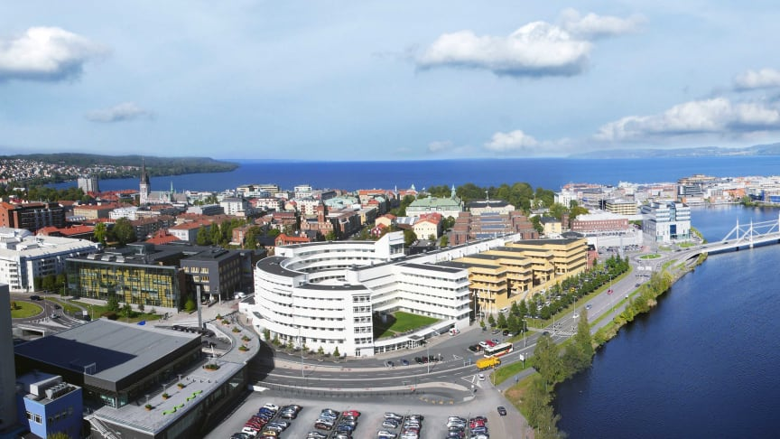 View of Jönköping with campus in focus