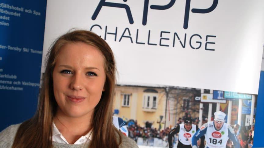 22-åriga Malin vann Vasaloppet App Challenge