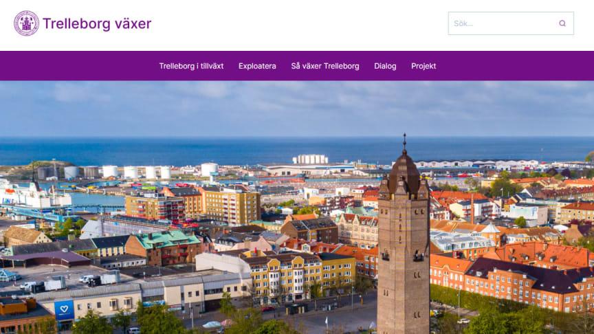 På den nya webbplatsen kan du följa Trelleborgs kommuns tillväxt i olika bygg- eller planprojekt.