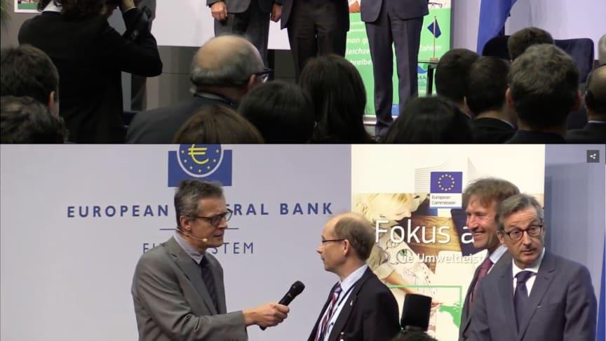 """Carl-Johan Björkman tar emot EMAS-erkännande som """"National Pioneer"""" på 20års jubileum i Frankfurt"""