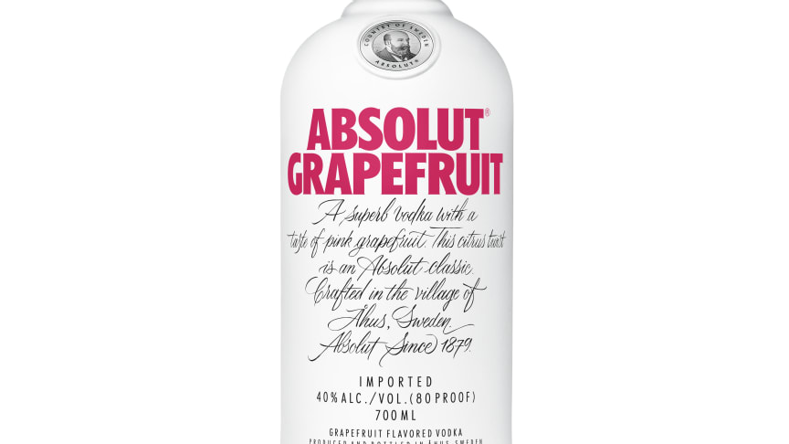 Absolut lanserar ny smak: Absolut Grapefruit