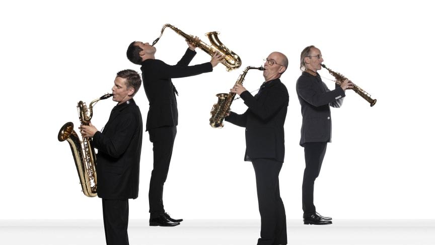 Blåsarsymfonikernas saxofonkvartett. Foto Mats Bäcker.