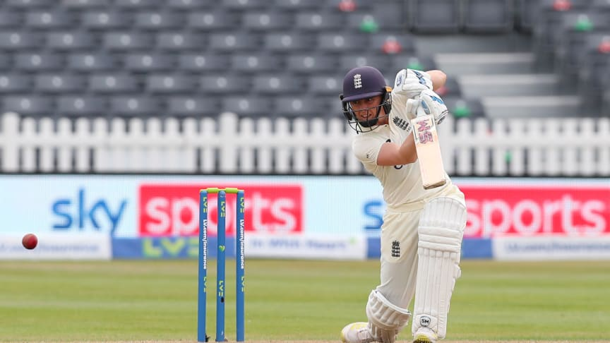 Heather Knight made 95 on day one at Bristol. Photo: Getty Images