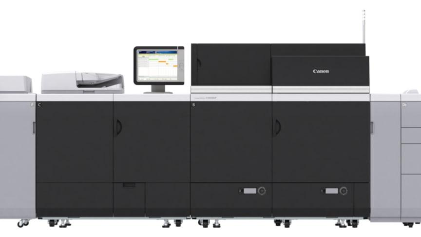 Nya imagePRESS C10010VP-serien - utskrift på långa ark upp till 1 300 mm ger en större portfölj av marknadsföringsmaterial.