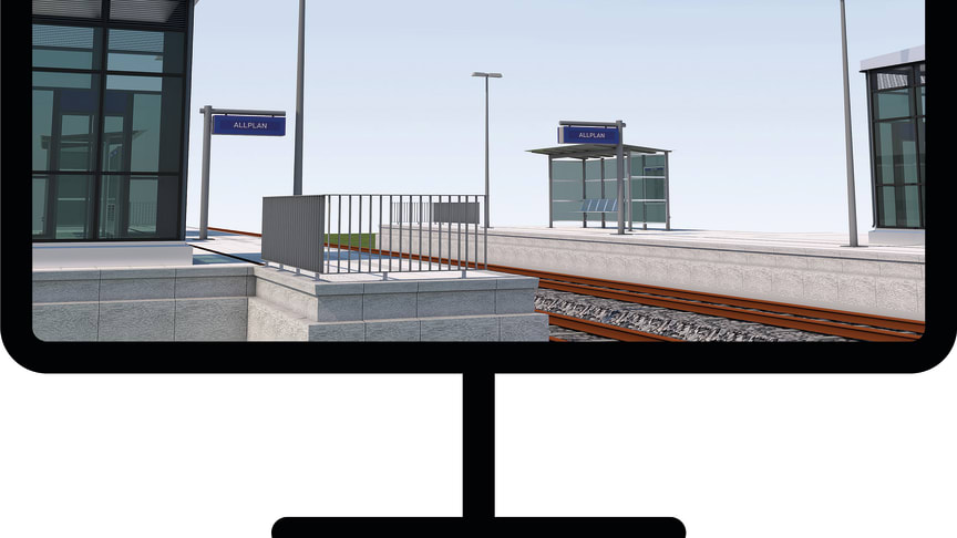 The project template from ALLPLAN for the rail platform design contains numerous features and templates that support the entire workflow of design, model creation, evaluation, documentation and data transfer. © ALLPLAN