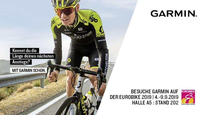 Garmin ist auf der EUROBIKE 2019 in Halle A5/202 zu finden.