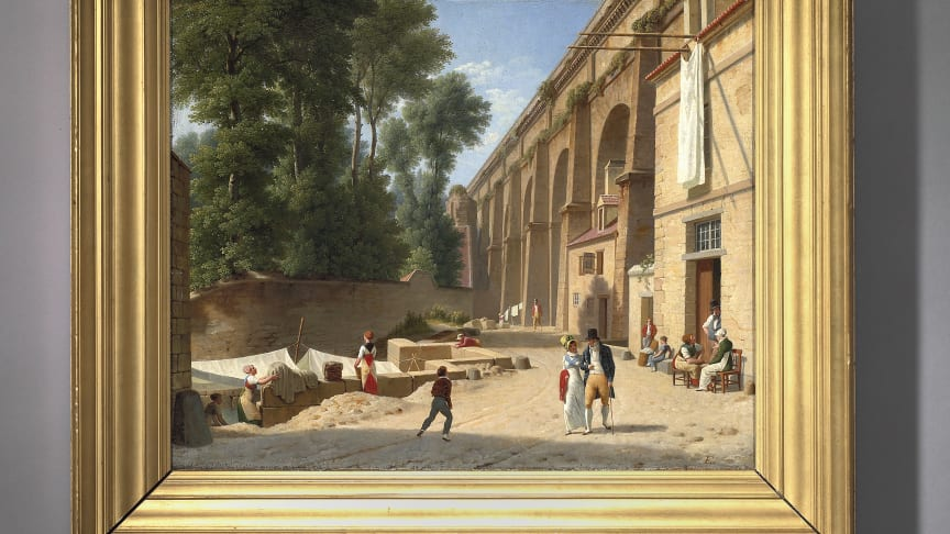 "C.W. Eckersberg: ""The Aqueduct in Arcueil"" (1812). Estimate: DKK 6-8 million / € 805.000-1.050.000."