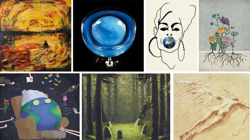 Några av verken som deltar i auktionen: Kent Wisti, Måns Herngren, Stina Wirsén, Louise Edlund Winblad, Joanna Schmidt och Anna Toresdotter.