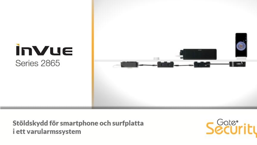 InVue Series 2865 - Varularm för surfplatta och smartphone i ett system