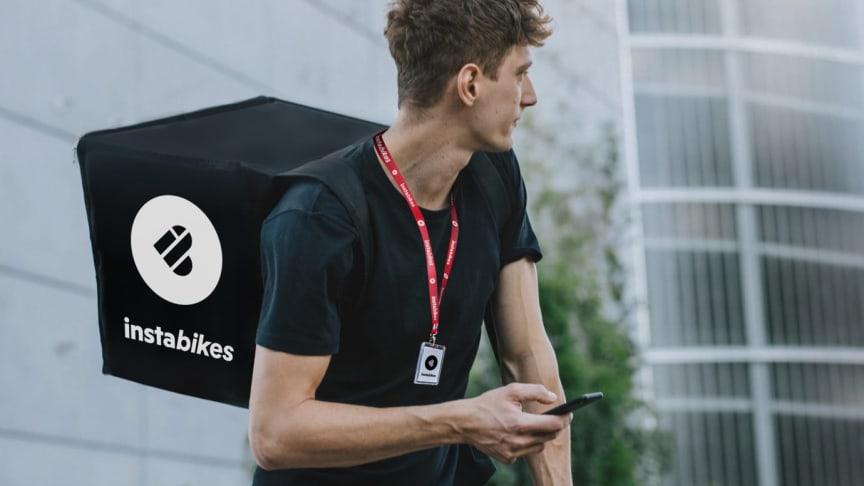 I nya tjänsten Instabikes levererar cykelbud ända fram till dörren.