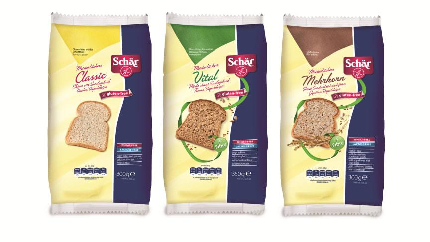 Nyhet från Schär: Saftiga glutenfria surdegsbröd!