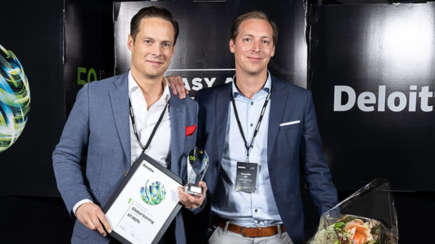 Företaget Global Gaming kammade hem förstapriset i årets Sweden Technology Fast 50