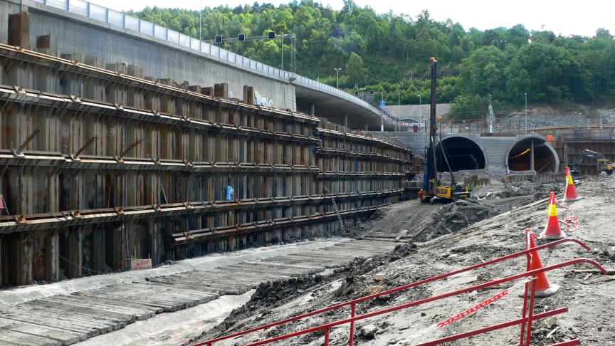 NGIs markedsområde Bygg, Anlegg og Samferdsel arbeider mye med grunnarbeider og fundamentering og tunneler for samferdselssektoren.