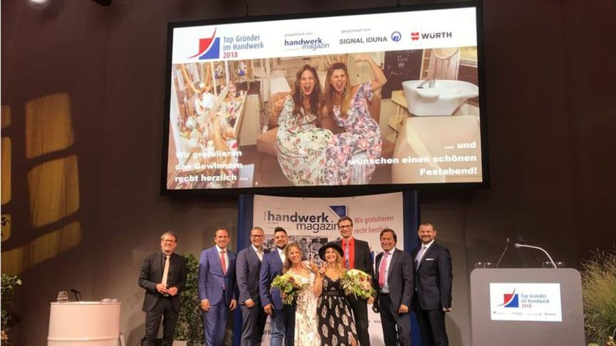 Die Gewinnerinnen und Gewinner des Top-Gründerpreises 2018. Foto: Kadel/handwerk magazin