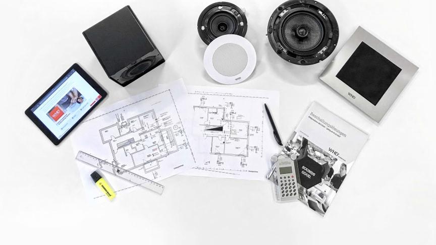 WHD unterstützt Architekten, Planer und Elektroinstallateure und Grosshändler bei der Konzeption und Planung von individuellen Audio-Lösungen für Hotels,  Restaurants, Büros, Praxen, öffentliche Einrichtungen und Wohnhäusern.