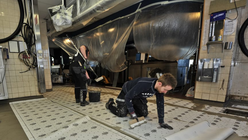 McDonald´s A6 McDrive i Jönköping valde ARDEX när de skulle renovera sitt restaurangkök