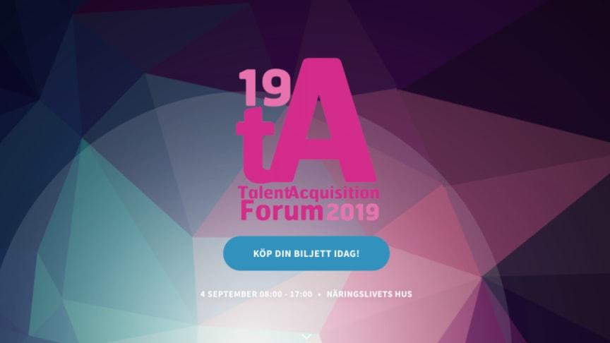 TNG medverkar i paneldiskussion på Talent Acquisition Forum 2019