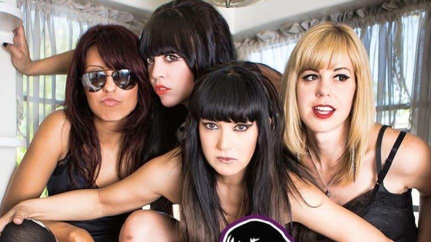 The Darts (US)  L-R Michelle Balderrama, Christina Nunez, Nicole Laurenne, Rikki Styxx               Photo: Jim Louvau