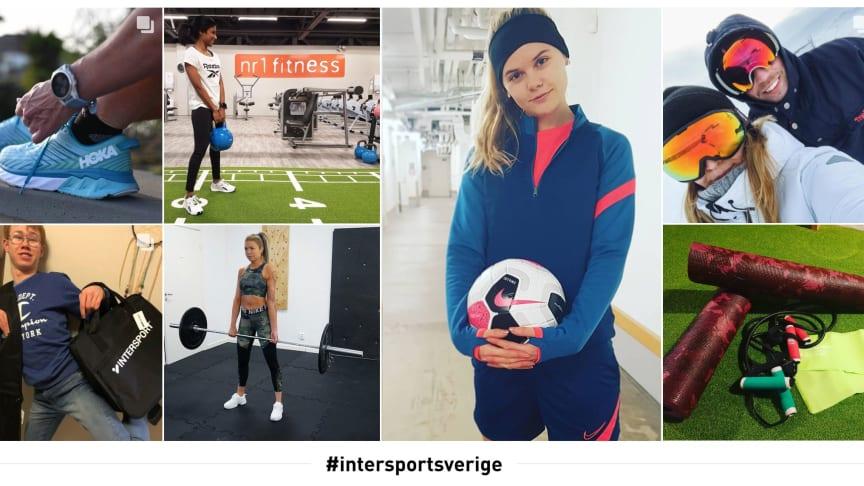 Exempel på inspirerande bilder från Intersports användare.