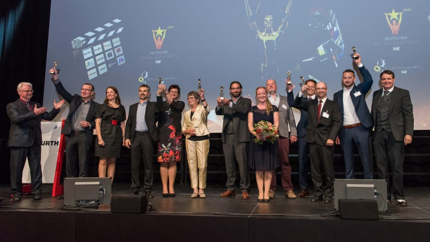 Deutscher Metallbaupreis und Feinwerkmechanikpreis - die Gewinner 2017. Foto: Köster Fotografie