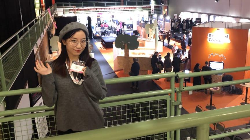 Kaiyuan Yang på Sweden Game Conference i Skövde. Foto: Privat