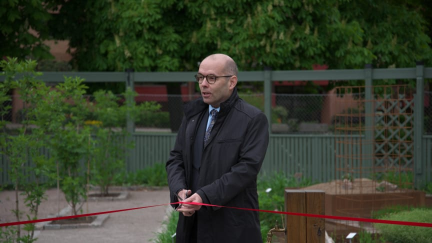 Genbanken invigdes på torsdagen av landshövding Carl Fredrik Graf.