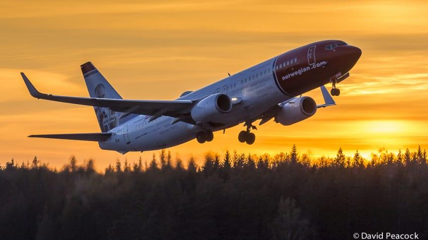 Norwegian incrementa tráfico e índice de puntualidad en noviembre